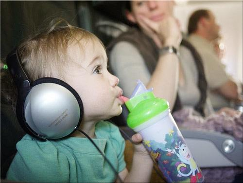 List of thing to do when flying with kids