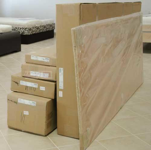 Packed wooden furniture