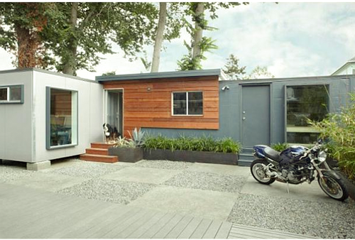 Living in a container mobile home