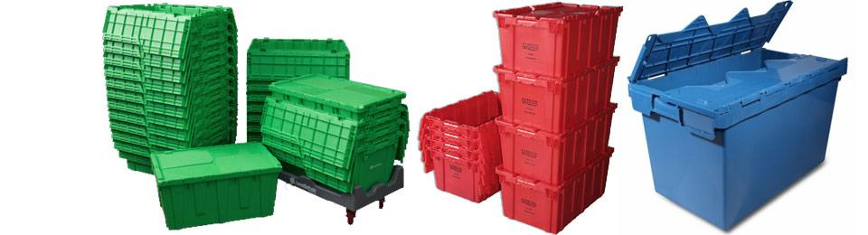 Plastic storage boxes for shipping