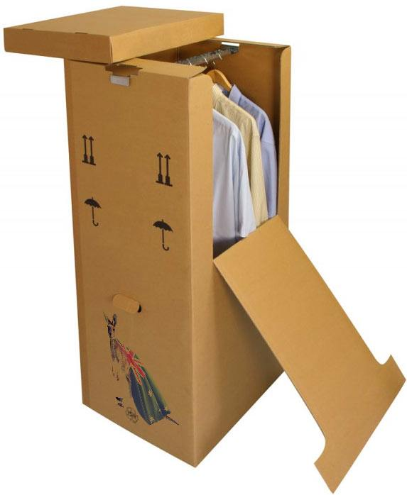Wardrobe box with clothes costs