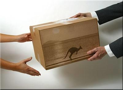 Courier delivery costs to Australia