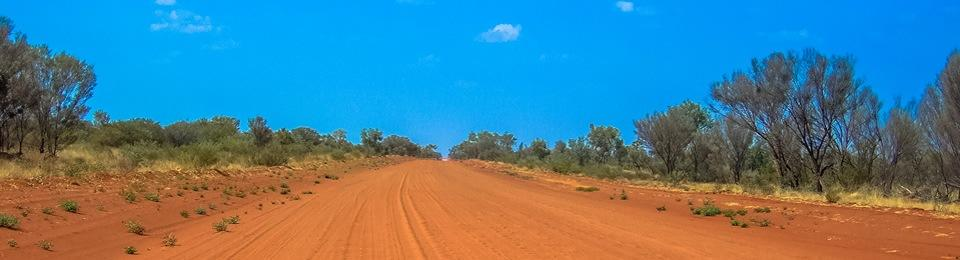 Red road in Australia