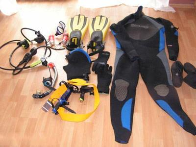 Diving equipment shipping